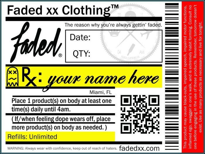 Prescription Bottle Label Template Free