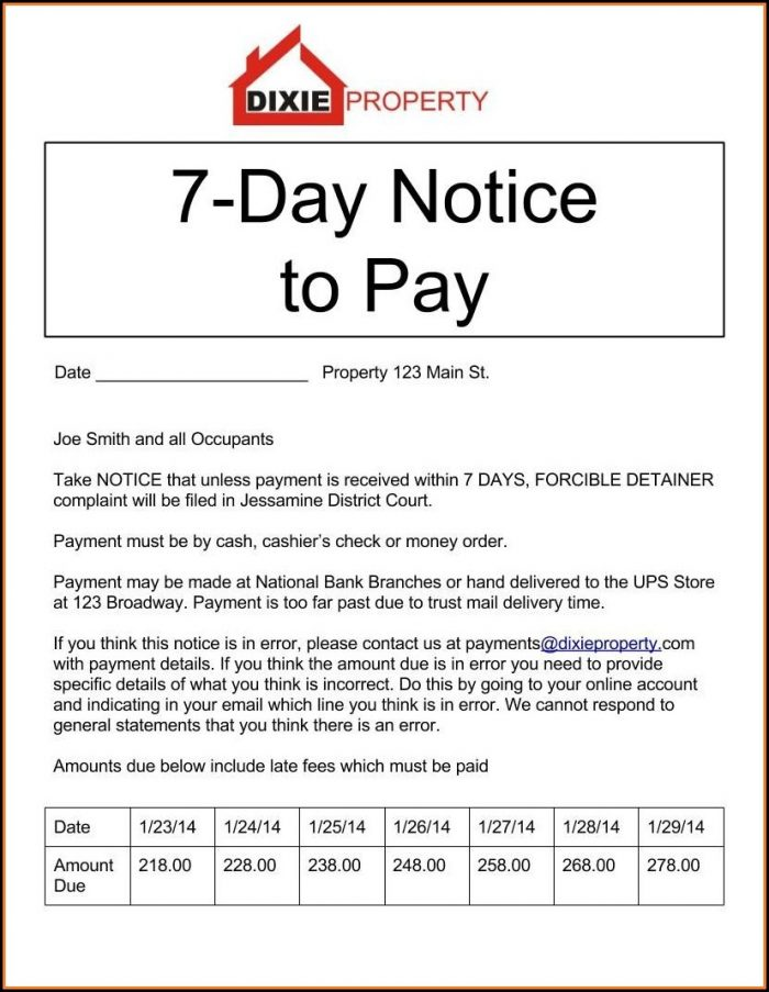 Printable 30 Day Eviction Notice Form