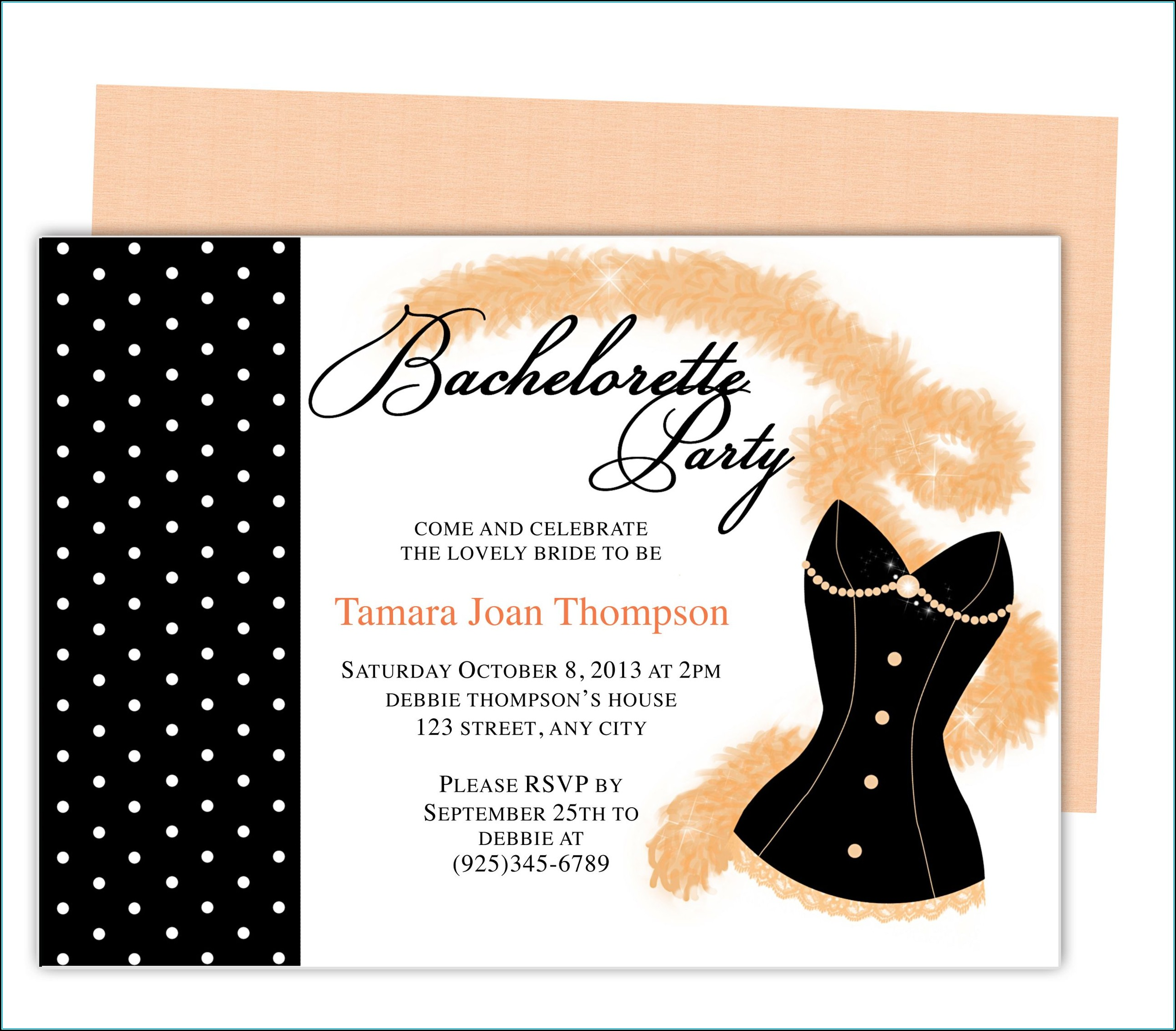 Printable Bachelorette Party Invitations Templates