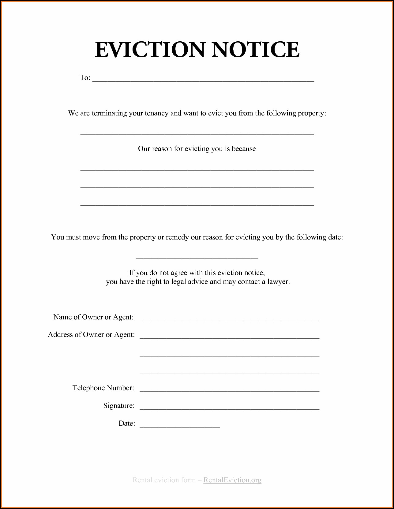 Printable Eviction Forms