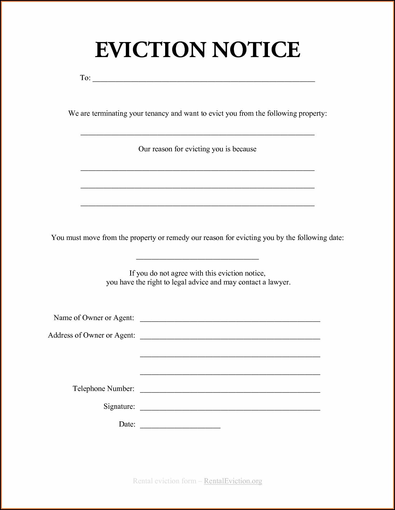 Printable Eviction Forms