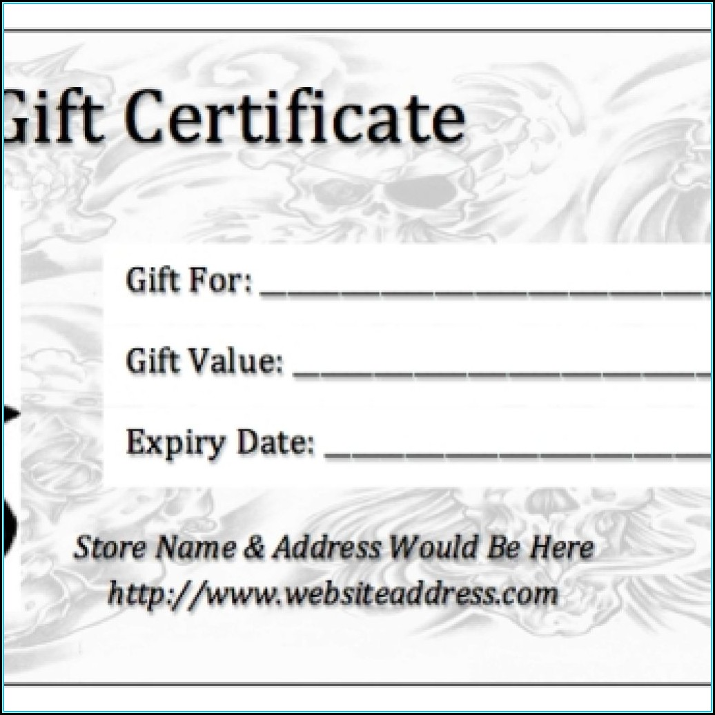 Printable Gift Certificate Template Pdf