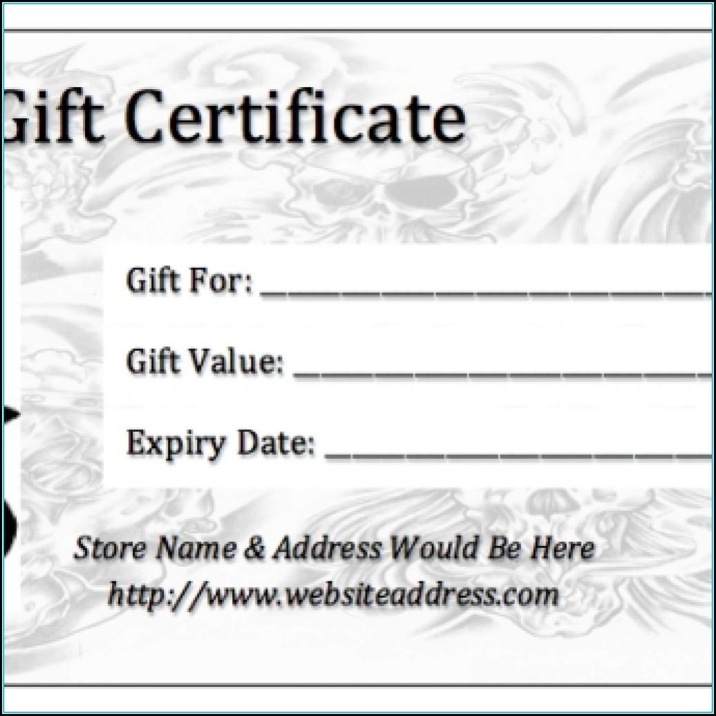 Printable Gift Certificate Template Pdf