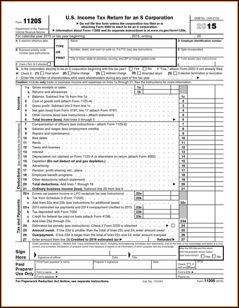 Printable Irs Forms 1040ez 2017