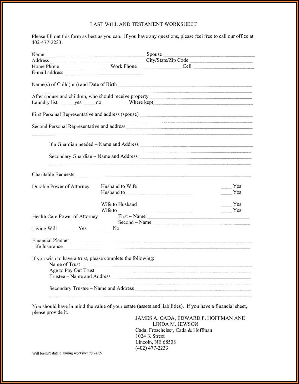 Printable Last Will And Testament Forms Ontario Canada