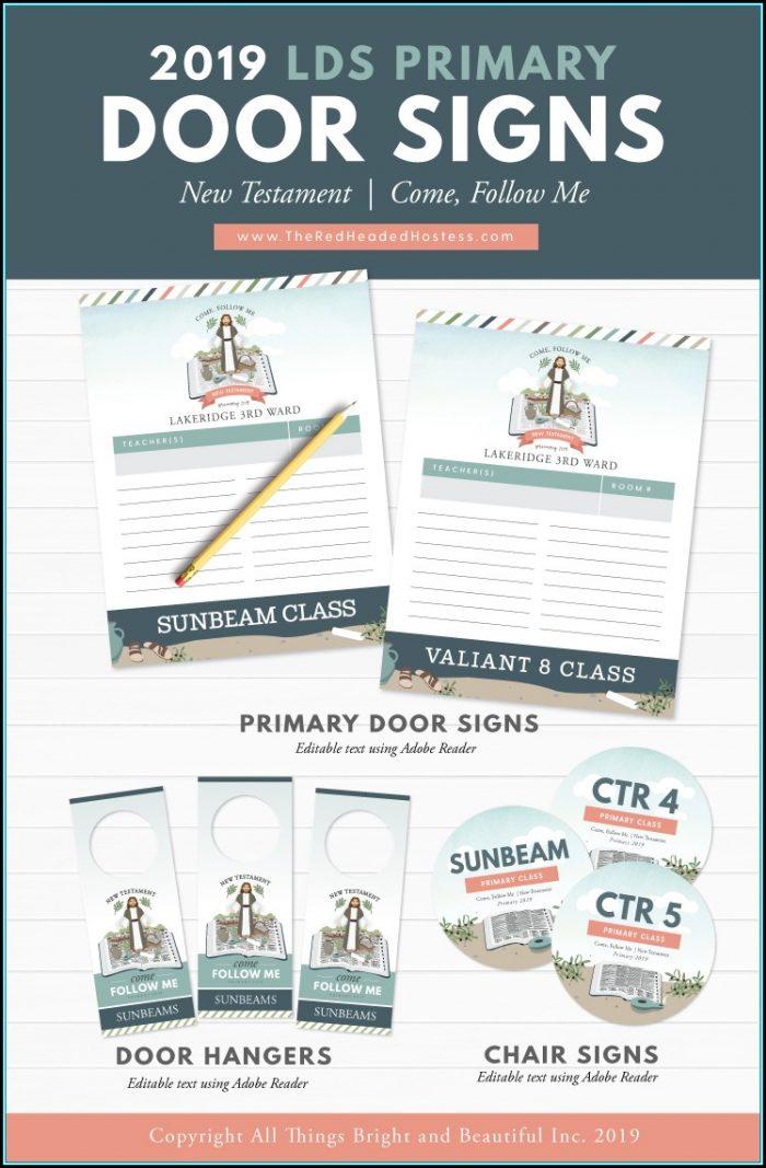 Printable Office Door Sign Template