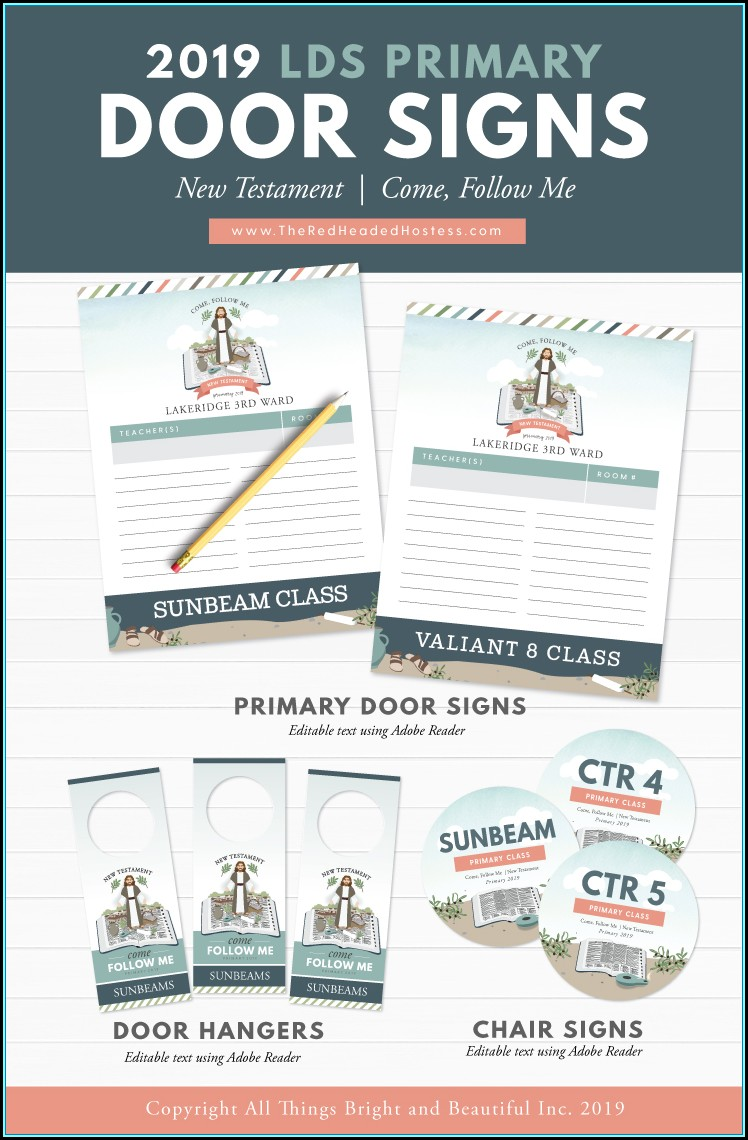 Printable Office Door Sign Template