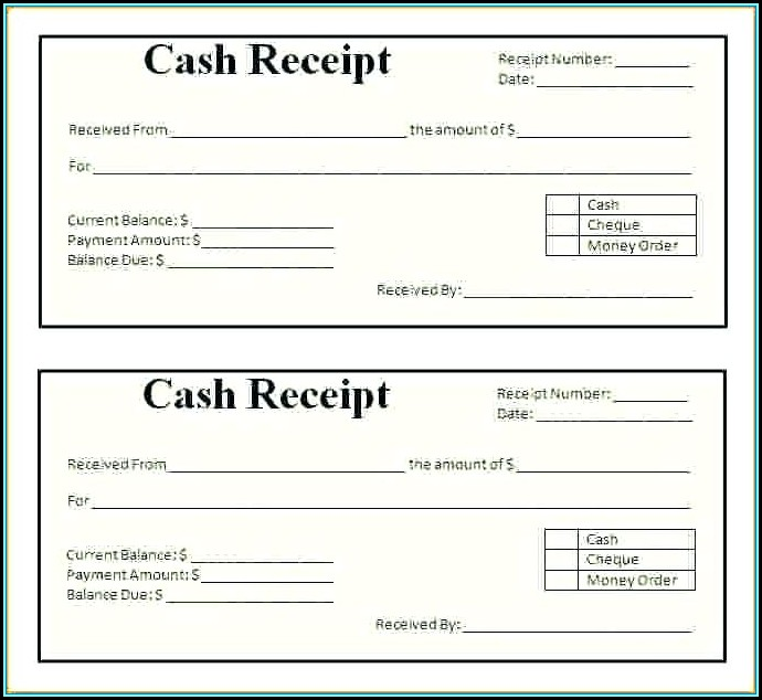 Printable Receipt Template India