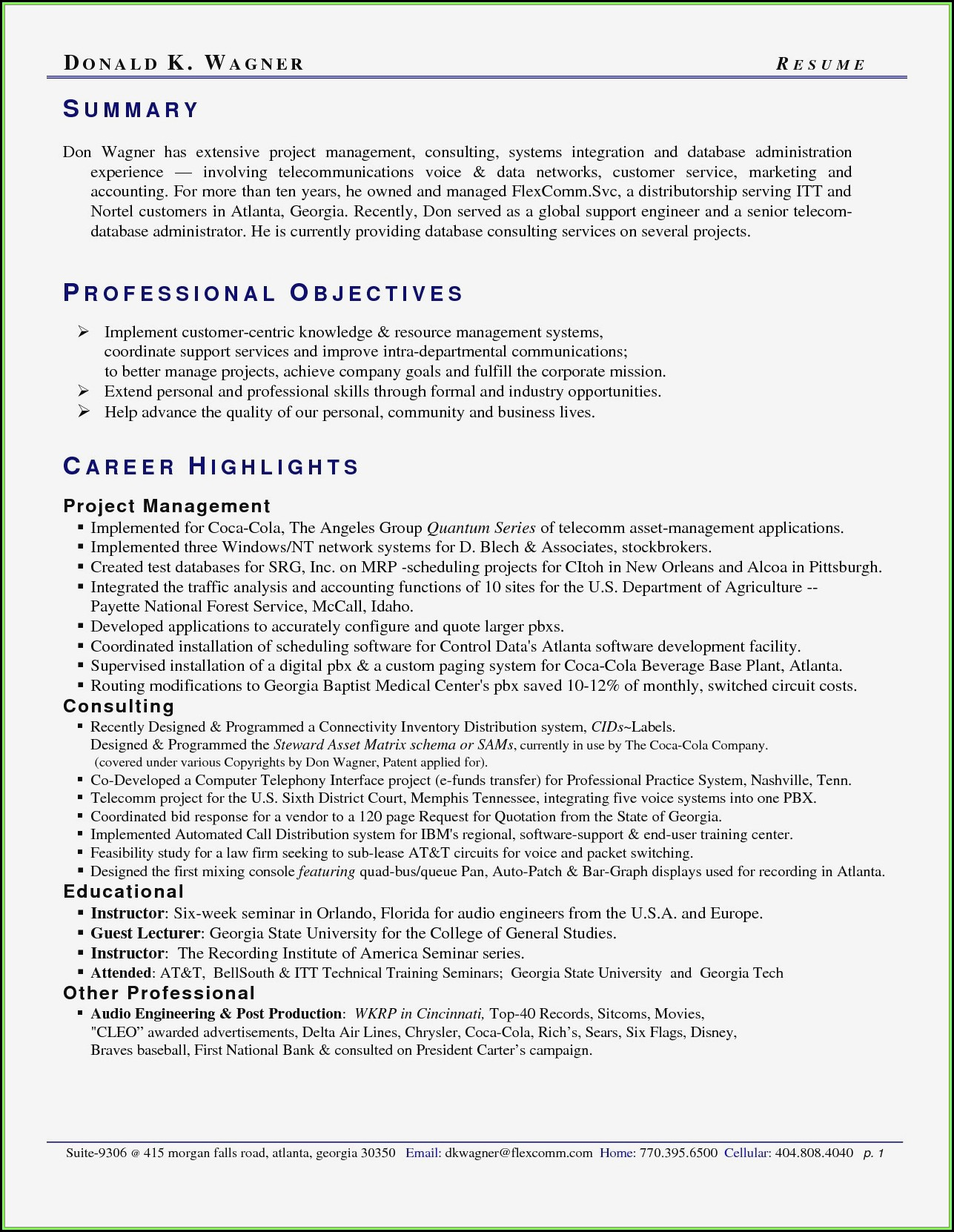 Professional Resume Writers Atlanta