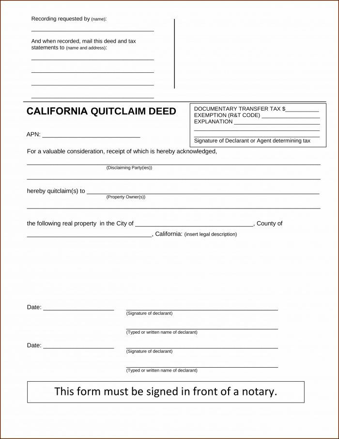 Quick Deed Claim Form Louisiana
