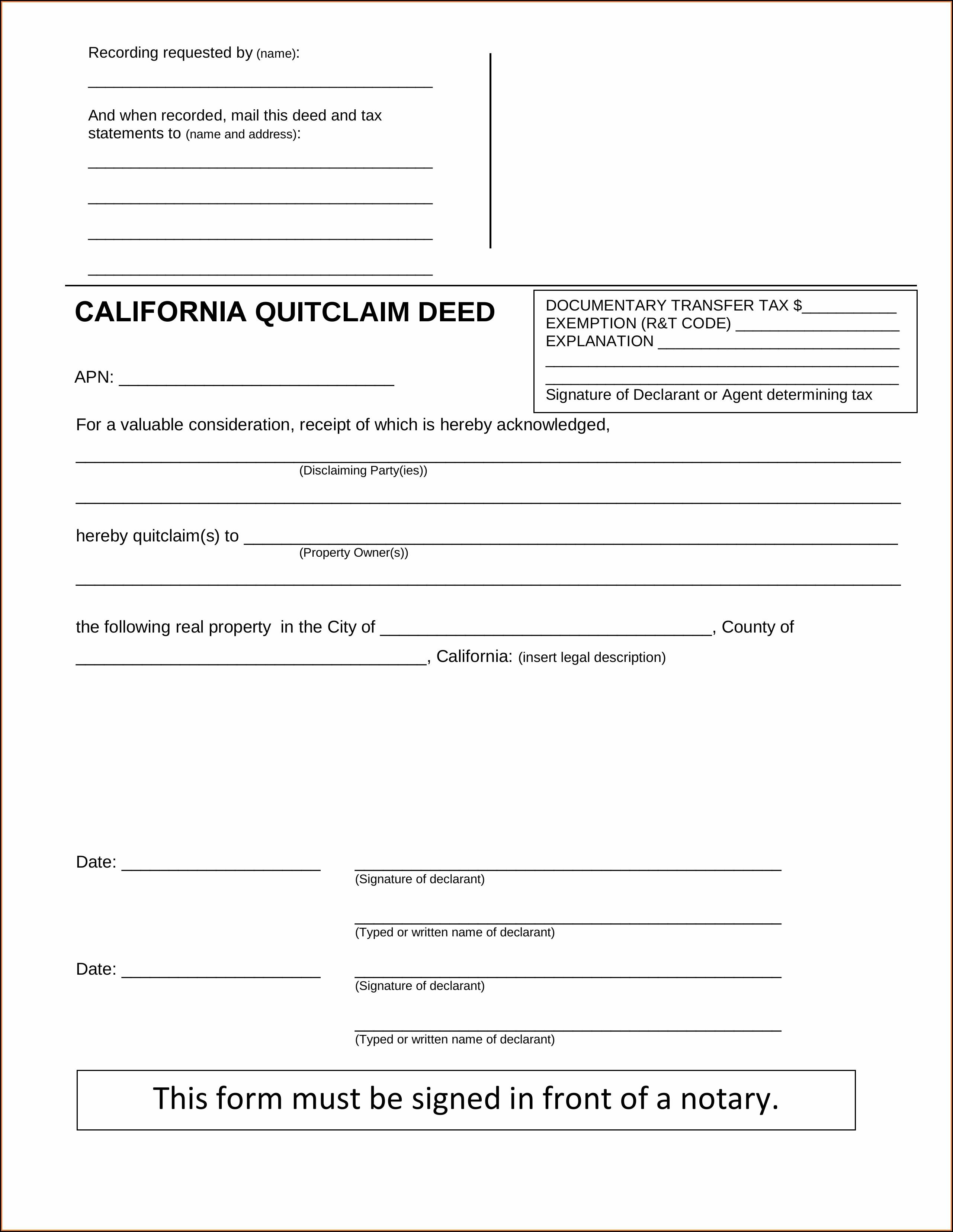 Quick Deed Claim Form Louisiana