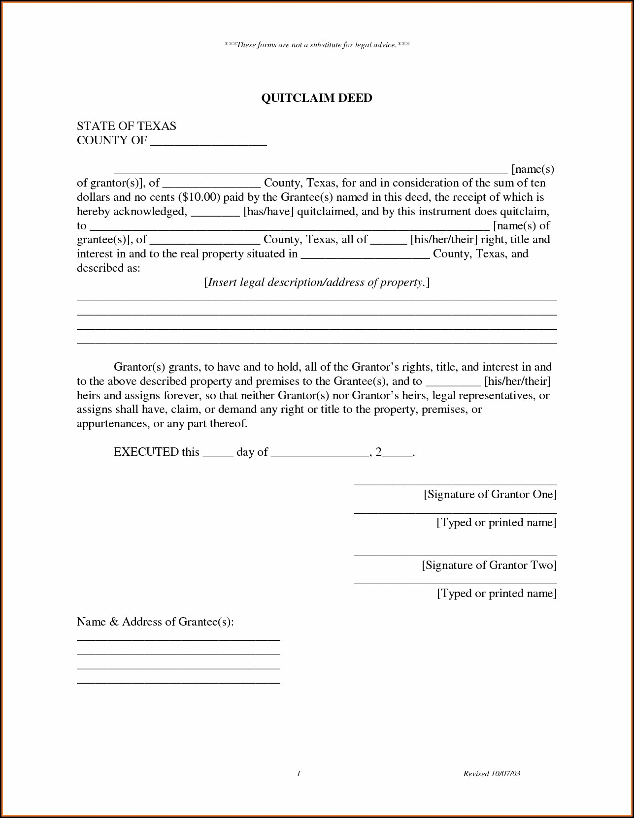 Quick Deed Claim Form Ohio
