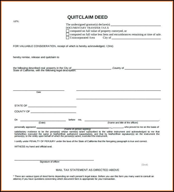 Quick Deed Claim Form Texas