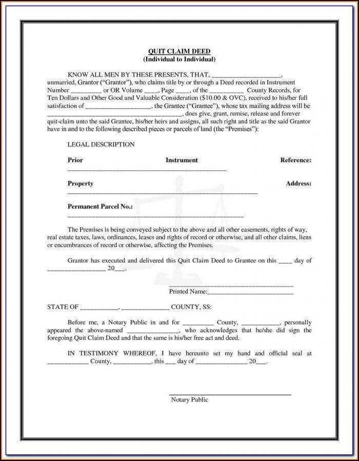 Quit Claim Deed Florida Form Pdf