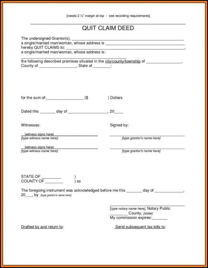 Quit Claim Deed Form Arizona Pdf