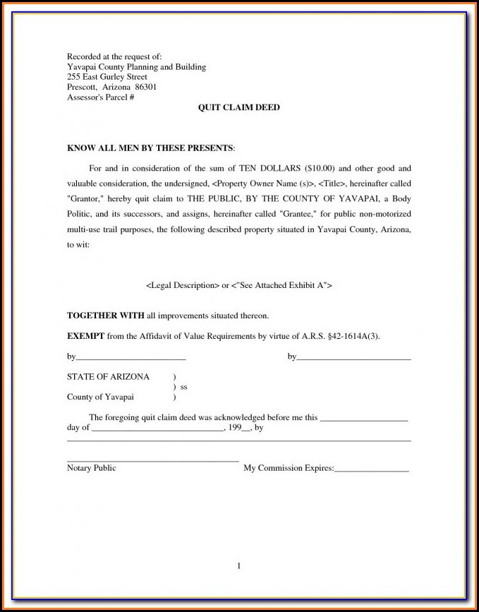 Quit Claim Deed Form Jefferson County Alabama