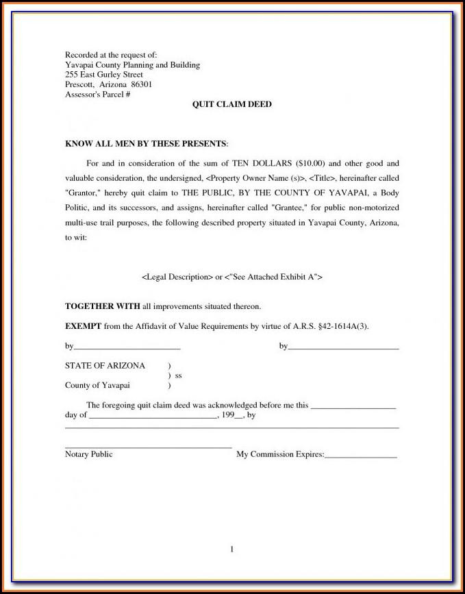 Quit Claim Deed Form Jefferson County Alabama