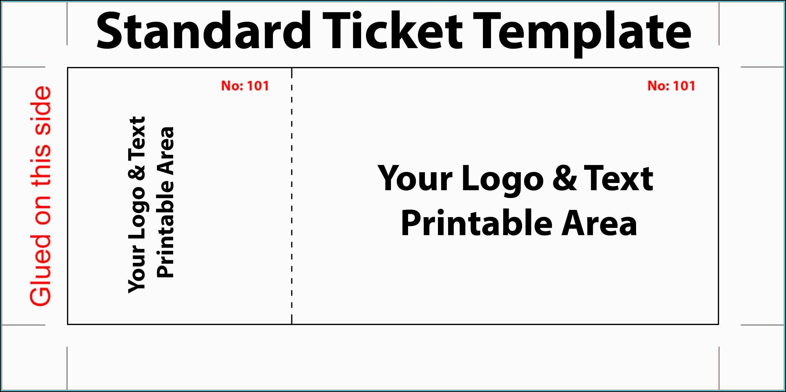 Raffle Ticket Template Excel Free - Template 1 : Resume ...