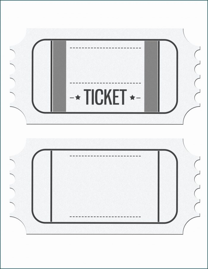Raffle Tickets Template Excel