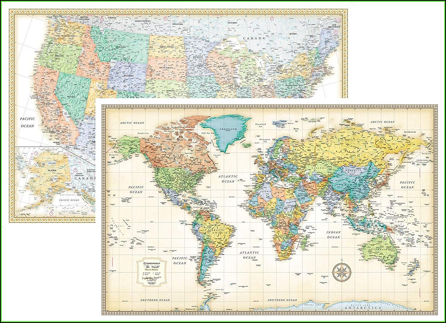 Rand Mcnally Laminated Classic World Map