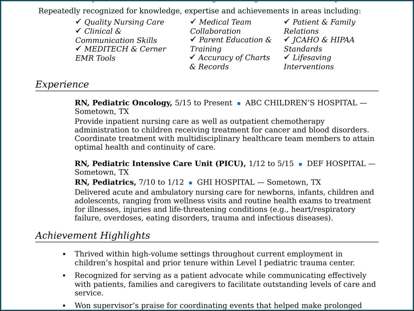 Registered Nurse Resume Cover Letter Template