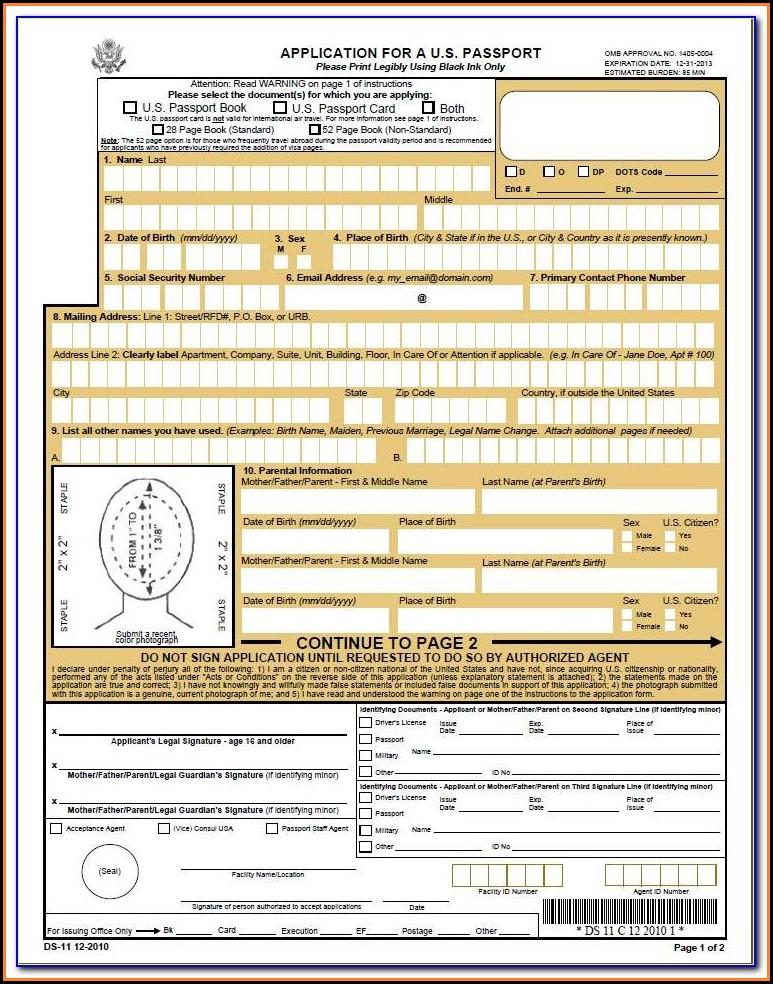 Renewal Passport Forms Nz