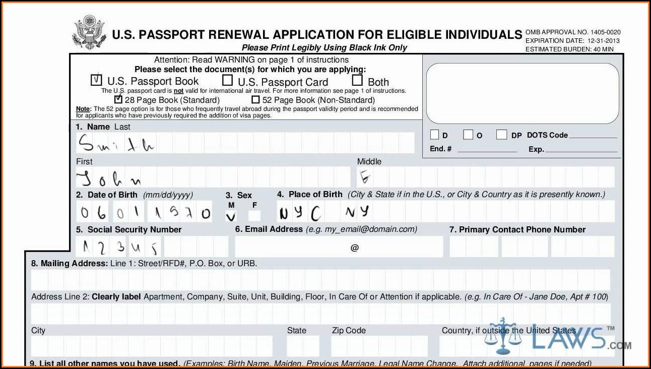 Renewal Passport Forms