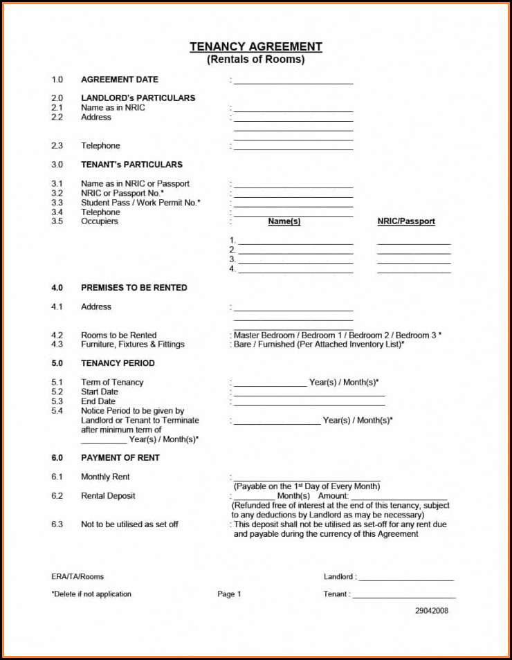 Rental Application Forms California