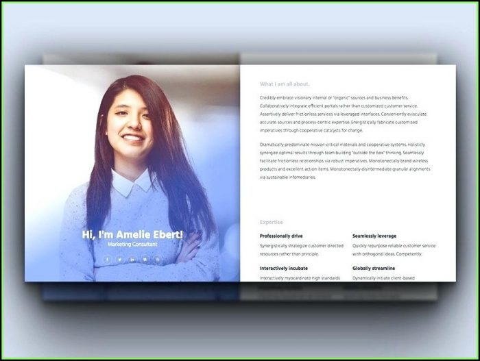 Resume Curriculum Vitae Powerpoint Template Free Download