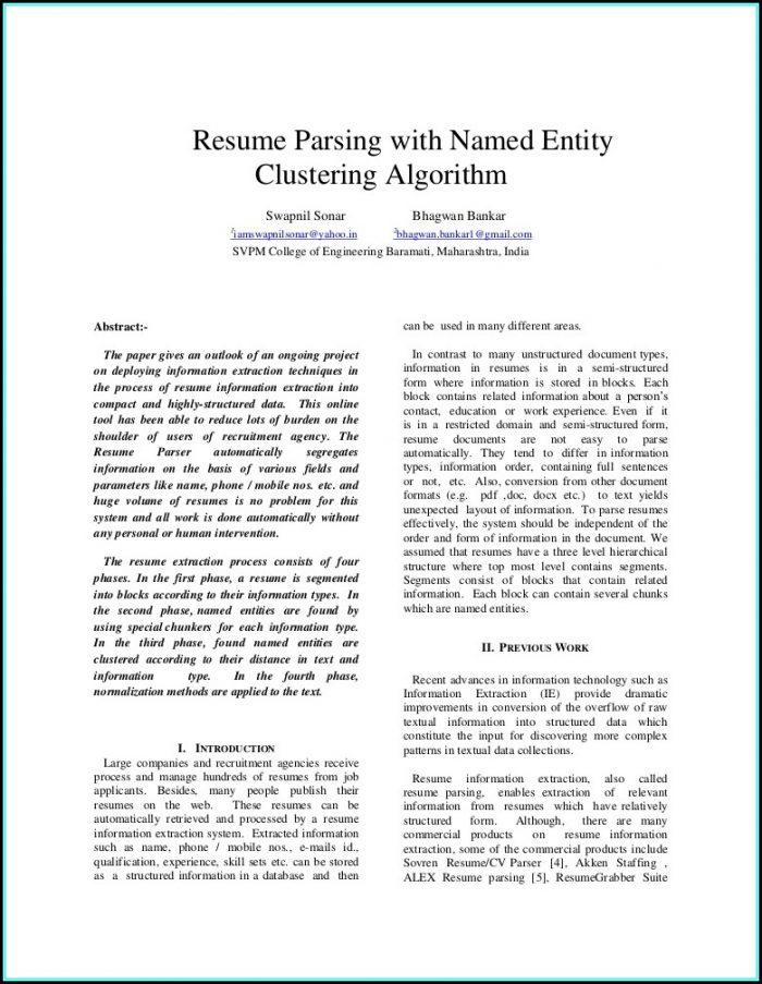 Resume Parsing Software Free Download