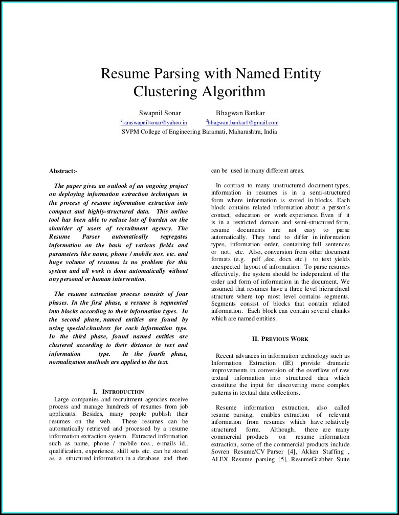 Resume Parsing Software Free Download