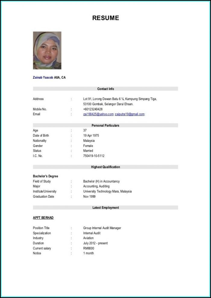 Resume Samples For Military To Civilian