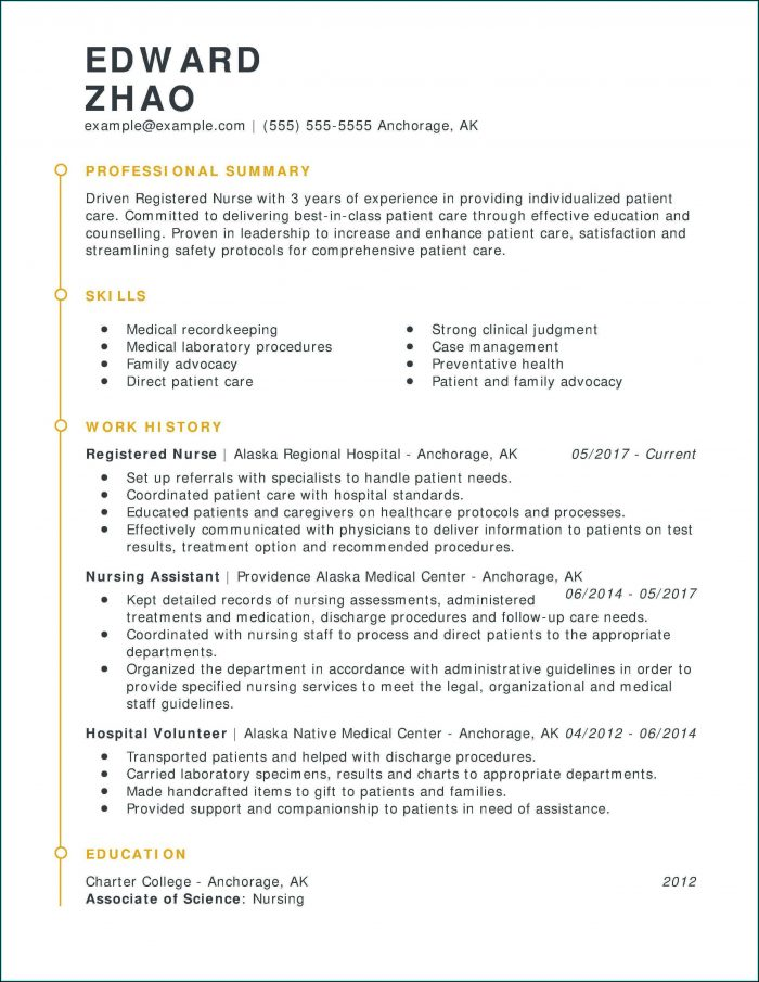 Resume Template For Rn