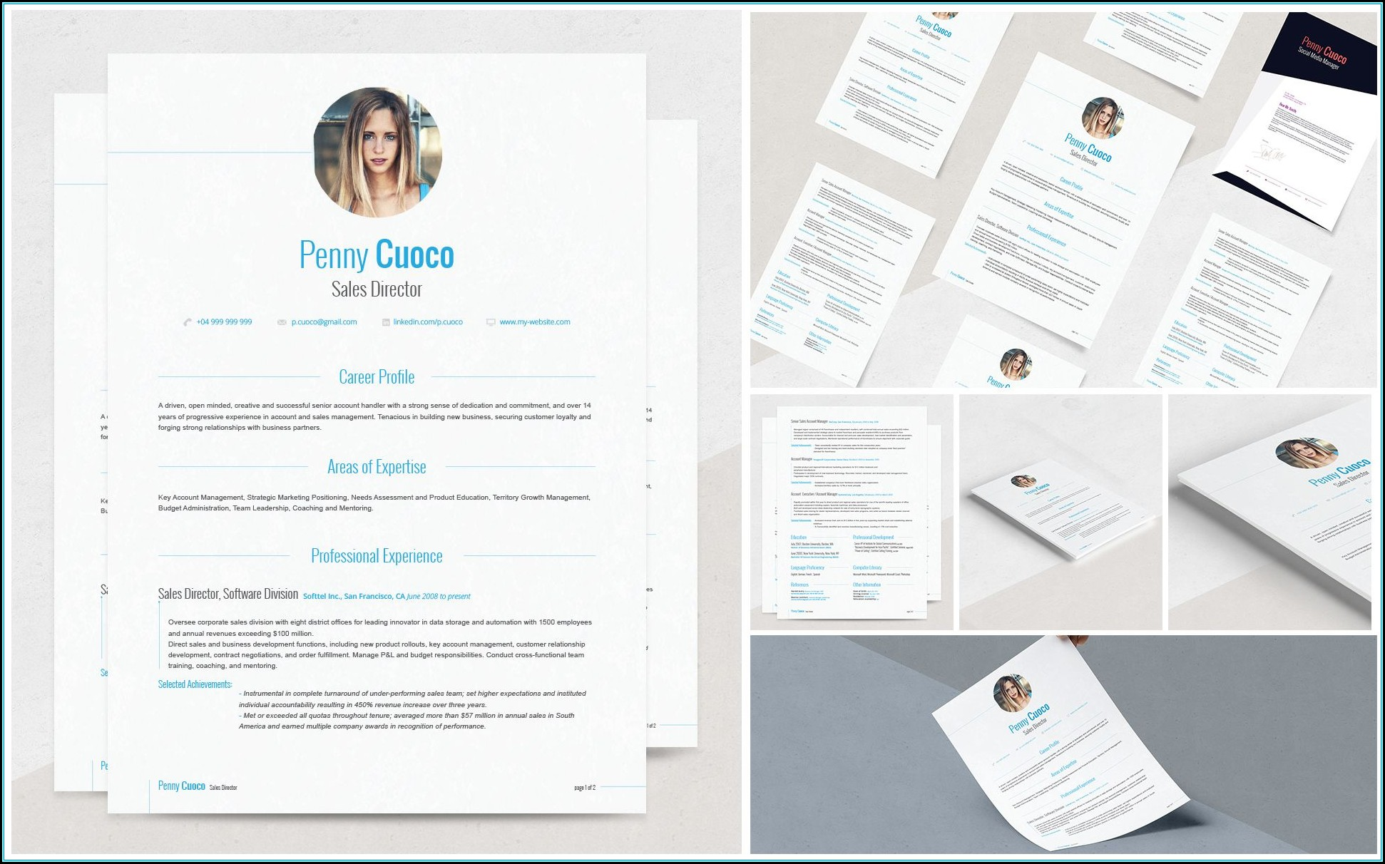 Resume Template Free Wordpress