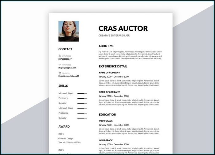 Resume Template Word Free Creative