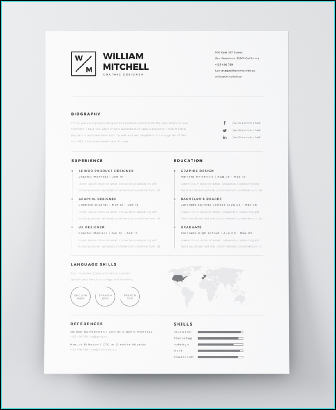 Resume Templates Creative Free Download