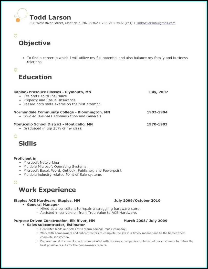 Retail Store Manager Resume Format Download Free