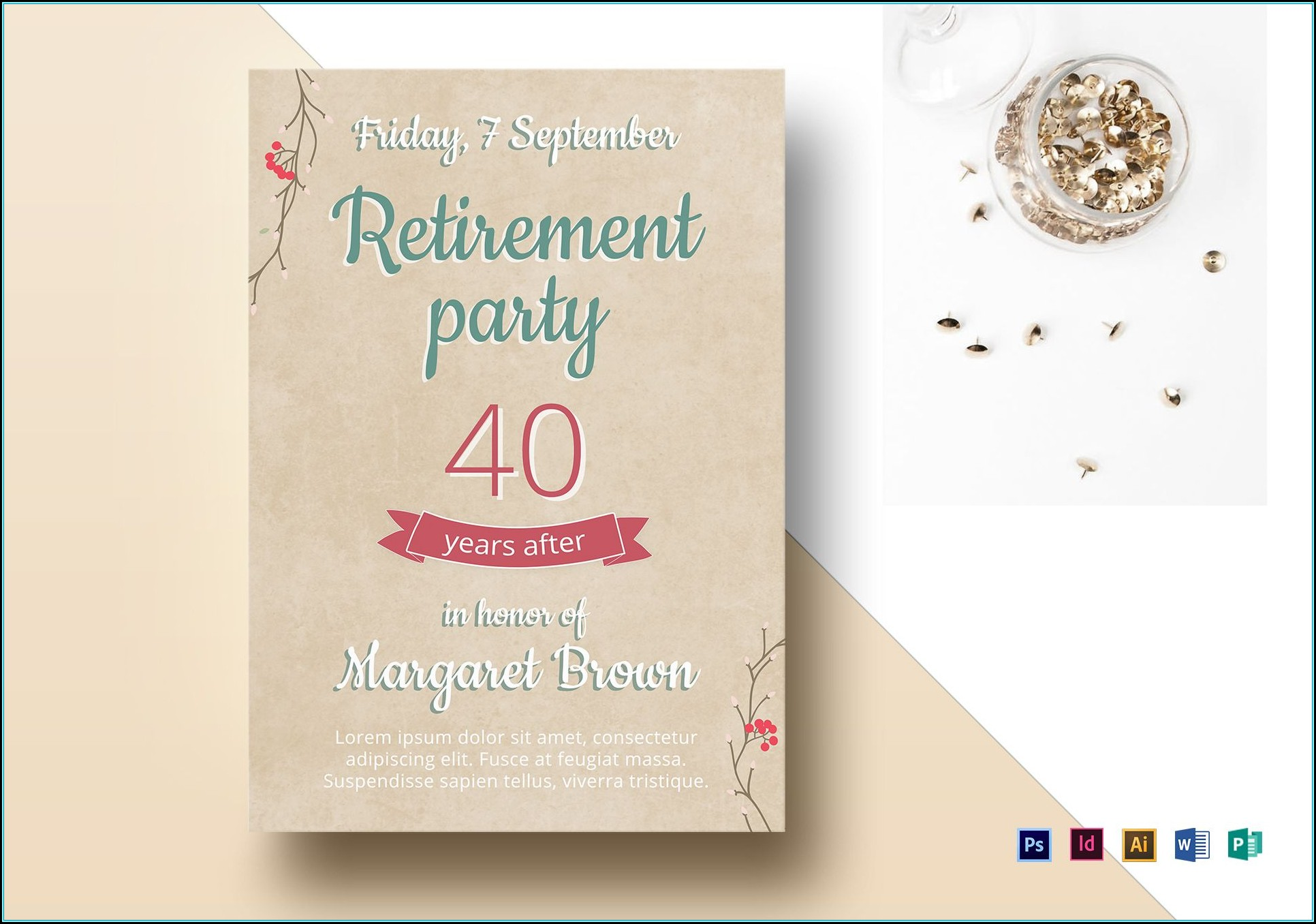Retirement Flyer Samples Free
