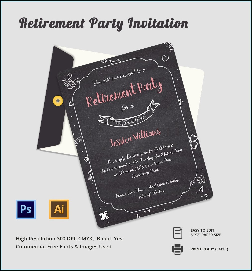 Retirement Party Flyer Template Free