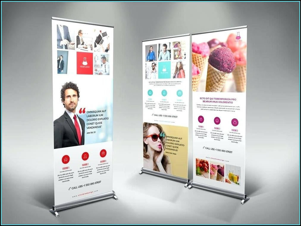 Retractable Banner Template Illustrator