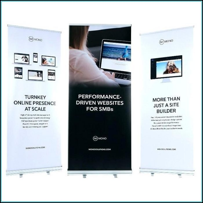 Retractable Banner Template Psd