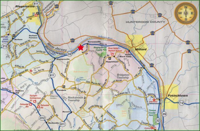 Road Map Of Bucks County Pa