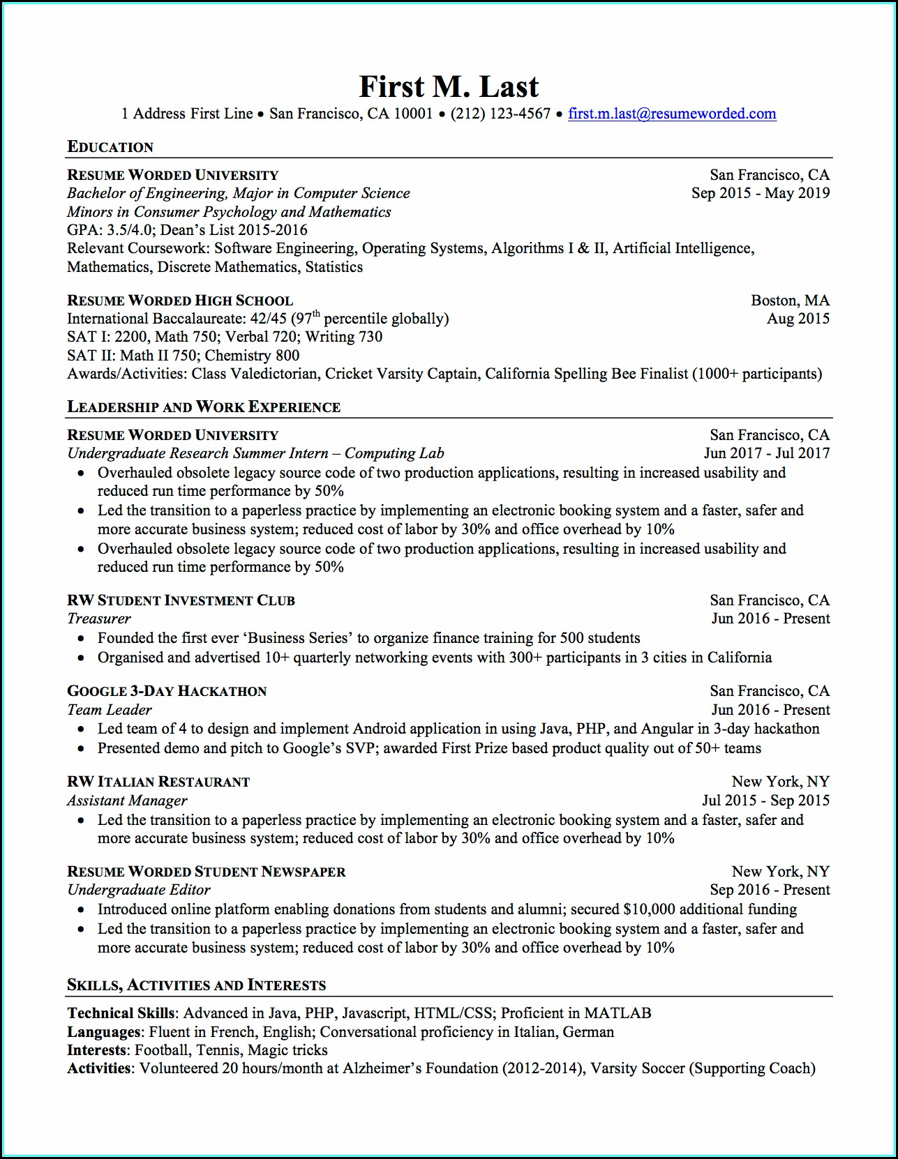 Run My Resume Through Ats