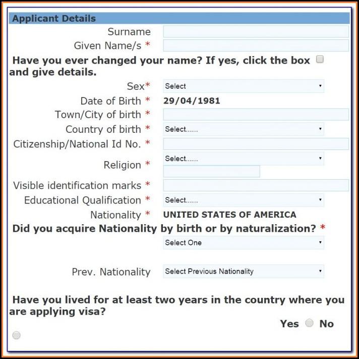 Russian Tourist Visa Application Form For Us Citizens