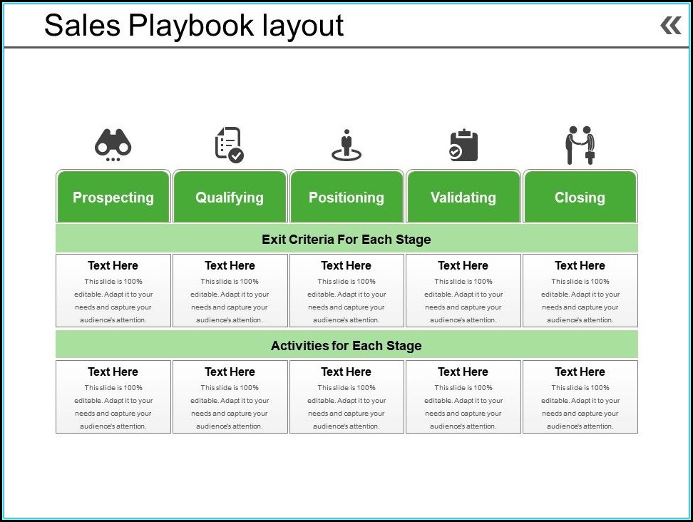 Sales Playbook Template Ppt
