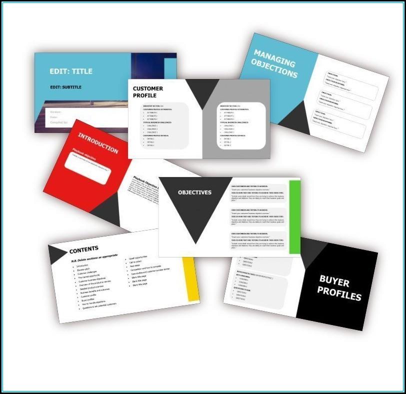 Sales Playbook Template Word