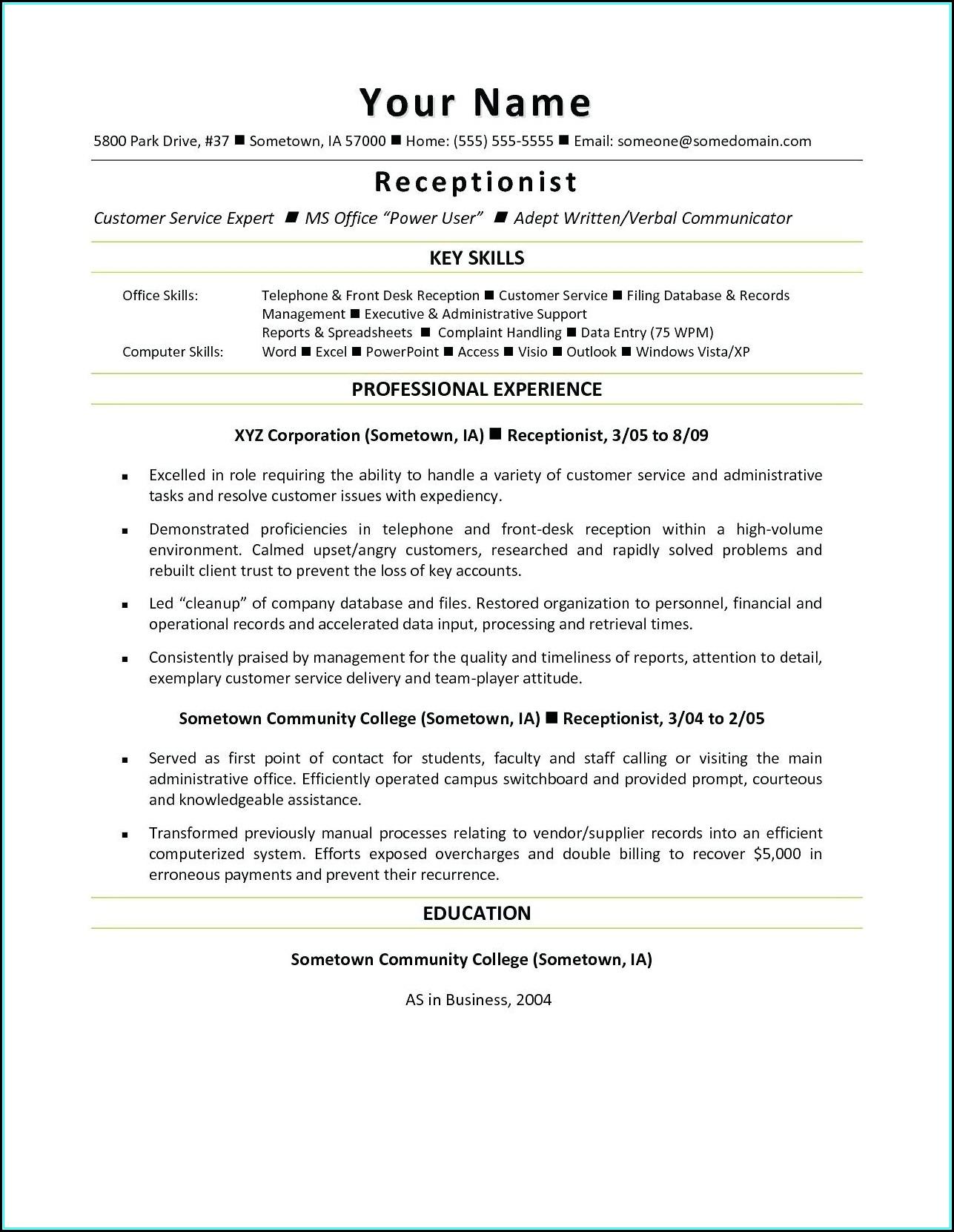 Sample Certified Nursing Assistant Resume Experienced