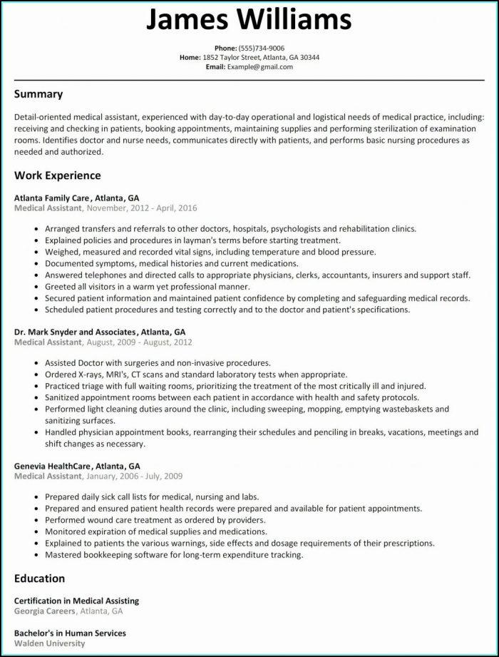 Sample Of Rn Resume