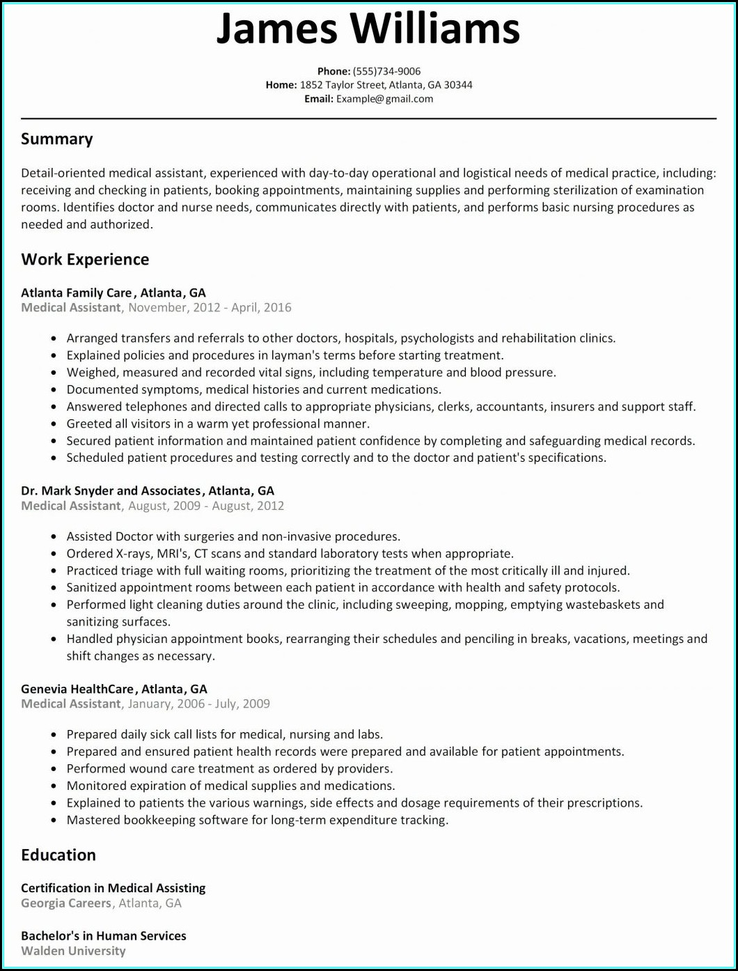 Sample Of Rn Resume