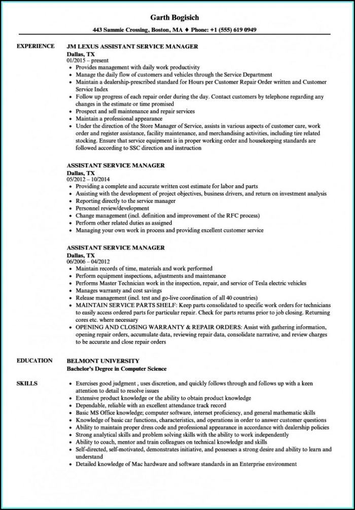 Sample Resume For Assistant Nurse Manager Position